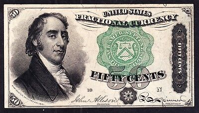 US 50c Fractional Currency FR 1379 Ch AU