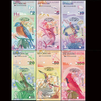 Bermuda Full Set 6 PCS, 2+5+10+20+50+100 Dollars, 2009, P52-62, UNC>Specimen set