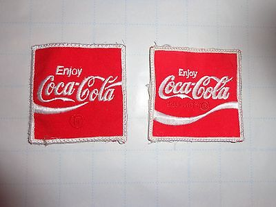 2 Coca-Cola embroidered patches