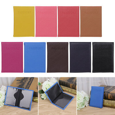 Fashion Faux Leather Travel Passport Holder Cover ID Card Organizer Ticket Case