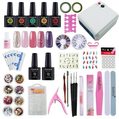 Starter Set Nagel Kunst 36W UV/LED Nail Art Gellack UV Farbgel Nagelgel DE