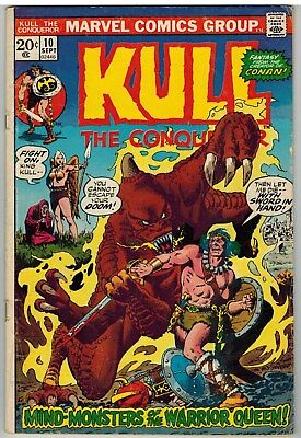 Kull The Conqueror #10 1973 Severin Art Marvel Bronze Age!