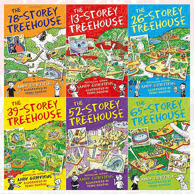 The 13-Storey Treehouse Collection 6 Books Set By Andy Griffiths & Terry Denton