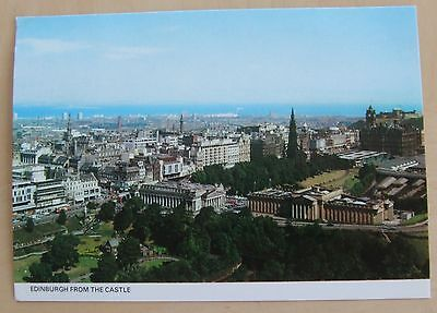 Edinburgh view from the Castle postcard