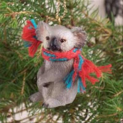 Koala Bear with Scarf Tiny One Miniature Small Christmas ORNAMENT