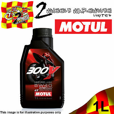 1x 1L MOTUL 300V 5W40 FACTORY LINE ROAD RACING ESTER CORE MOTOR CYCLE BIKE OIL
