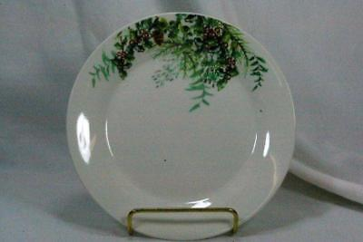 St Nicholas Square Holly Leades Salad Plate Pine Boughs