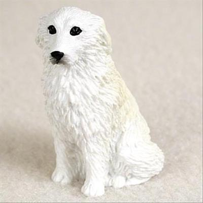 Great Pyrenees Dog Tiny One Miniature Small Hand Painted Figurine