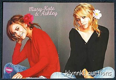 Mary Kate and Ashley Olsen Twins - 2 POSTERS Centerfolds Lot 875A