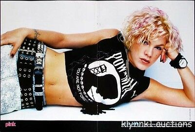 Pink - 3 POSTERS Magazine Centerfolds Lot 896A Hilary Duff star mix on back
