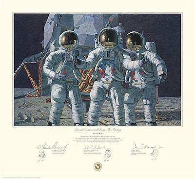 CONRAD GORDON AND BEAN THE FANTASY by Alan Bean signed by all 3! Art Print