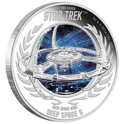 Tuvalu - 1 oz 2015 Star Trek Deep Space Nine DS9 Silver Proof Coin with COA/BOX