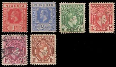 Nigeria 6 Values Mint Used Selection On Card