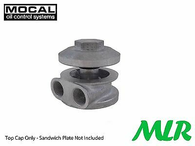 Mocal M18 Mo1D Remote Oil Filter Alloy Cap Mushroom Sandwich Plate Ave