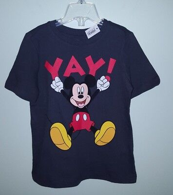 NWT Old Navy Boys 4T Short Sleeve MICKEY MOUSE Disney Tee T-Shirt GRAY  #3211117