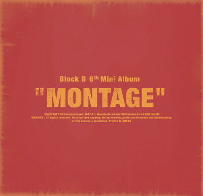 BLOCK B - MONTAGE CD+Photobook+Photocard+Poster (on Pack)+Free Gift+Tracking no.