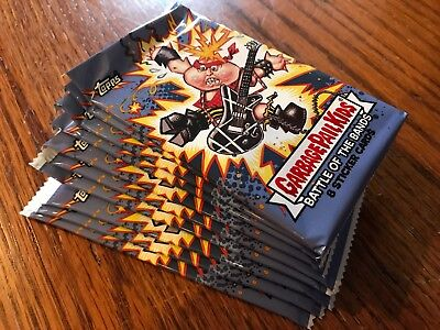 10 BLASTER PACKS Topps 2017 Garbage Pail Kids Battle of the Bands 80 Cards GPK
