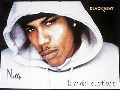 Nelly - 2 POSTERS Centerfolds Lot 69A  Missy Elliott  3LW on back