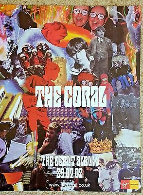 THE CORAL - Full Page Magazine Advert Picture Debut Album 2002 - RARE
