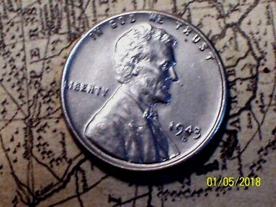 """""""NICE"""" 1943-D  @  Lincoln Wheat Penny (From old roll)"""