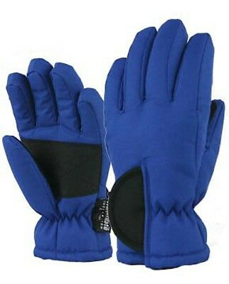 Toddlers Child Kids Boys Girls Ski Gloves Blue Waterproof NWT 2 - 4 Years #87133