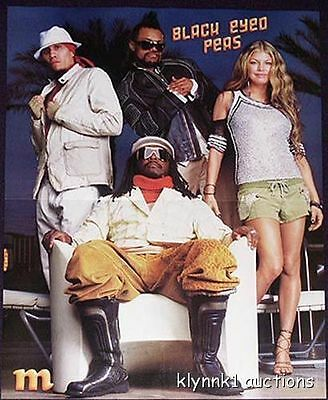 Fergie Black Eyed Peas 2 POSTERS Centerfolds Lot 150A Hilary Duff on back