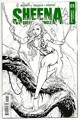 2017 Sheena #1H Nm 9.4 J Scott Campbell 1:30 B&w Incentive Cover Variant!
