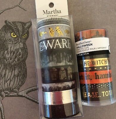 Halloween Washi Tape Martha Stewart Recollections Assorted Lot 15 Rolls Planner