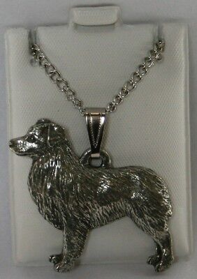 Australian Shepherd Dog Harris Fine Pewter Pendant w Chain Necklace USA Made