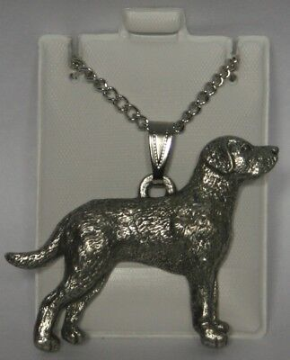 Chesapeake Bay RetrieverDog Harris Fine Pewter Pendant w Chain Necklace USA Made
