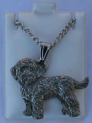 Cockapoo Dog Harris Fine Pewter Pendant w Chain Necklace USA Made
