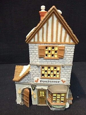 """Dept 56 Heritage Dickens Village Series """"POULTERER"""" 1988 w/ Box & Cord"""