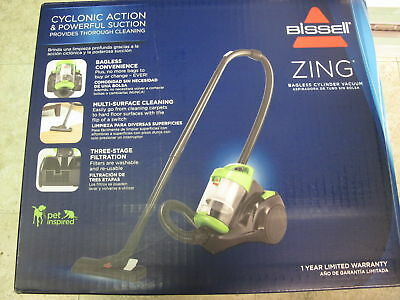 Bissell Bissell Zing Canister Bagless Vacuum, Lime Green 2156A