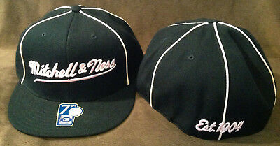 918a1a8d102 Mitchell   Ness Est. 1904 Cooperstown Collection MLB Fitted Hat Black Pink  7 1