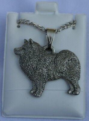 Samoyed Dog Harris Fine Pewter Pendant w Chain Necklace USA Made