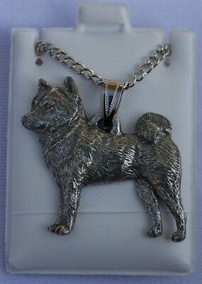 Shiba Inu Dog Harris Fine Pewter Pendant w Chain Necklace USA Made