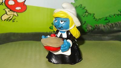 Smurfs Thanksgiving Pilgrim Smurfette Smurf Rare Classic Display Toy Figurine