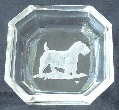 Art Deco Sealyham Cesky Terrier Crystal Salt Czechoslovakia Hoffman