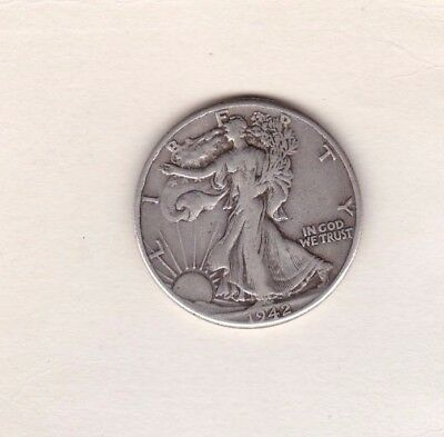 Usa 1942 Silver Half Dollar In Good Fine Or Better Condition