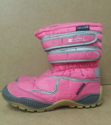 Girls Mountain Warehouse Pink Snow Boots Size 13 <J5573