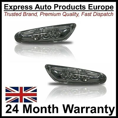 2 x side repeaters Black LED 82894 BMW E46 9/2001 to 2003 not facelift