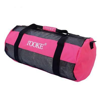 Scuba Diving Snorkeling Storage Carry Mesh Duffel Gear Bag Travel Pack Pink