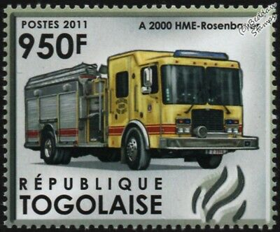 HME-ROSENBAUER Pump Fire Engine Vehicle Stamp (Herve Fire Brigade, Belgium)