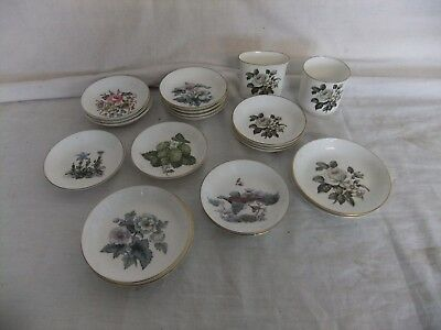 C4 Porcelain Royal Worcester Set of 20 small dishes/pots, various patterns 6B7B