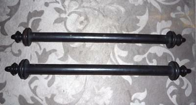 "PAIR OF ANTIQUE FRENCH MAHOGANY SCROLL DOWELS  & FINIALS  17"" W   ca.1848"