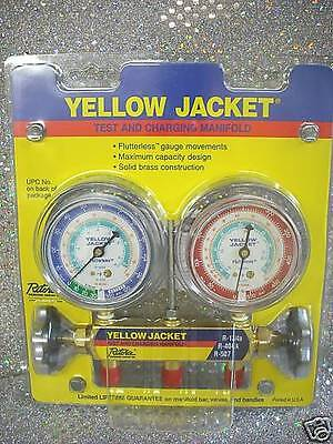 Yellow Jacket Gauge Set 2 Valve Manifold R134a, R507, R404a, MODEL 41312