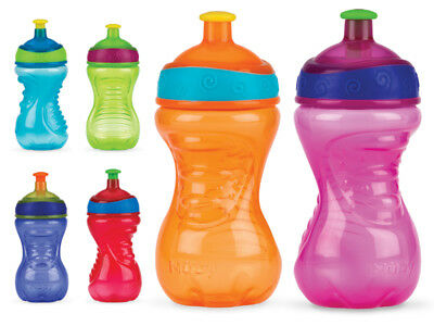 Nuby Free Flow Pop Up Beaker 18m+ - choose your colour!