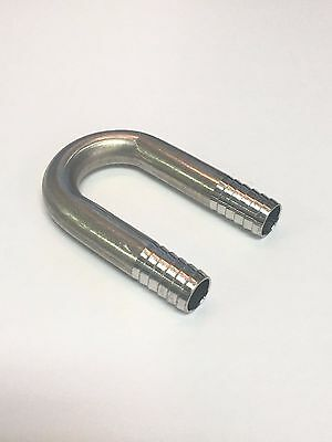"Stainless Fitting U-BEND 3/8"" Barb Small Radius"