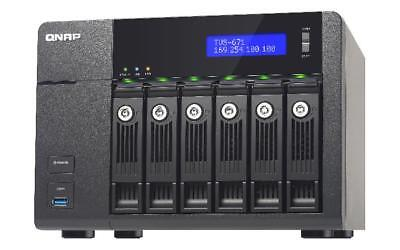 NEW! QNAP TVS-671-I3-4G 12TB 6 x 2TB WD RED PRO 6 Bay NAS with 4GB RAM