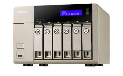 NEW! QNAP TVS-663-4G 24TB 6 x 4TB WD GOLD 6 Bay Desktop NAS with 4GB RAM